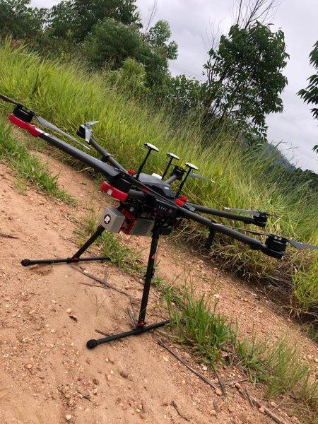 Laser aéreo drone